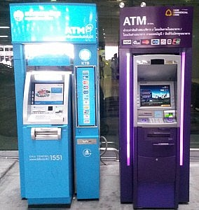 ATM in Bangkok Flughafen, Thailand