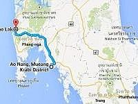 Taxifahrt von Ao Nang nach Khao Lak
