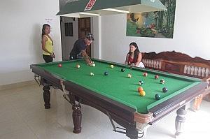Billiardtisch im Bella Tropicana Hotel