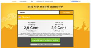 Billig nach Thailand telefonieren mit Toolani