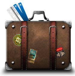 Gepackte Koffer für den Visarun nach Siem Reap, Kambodscha