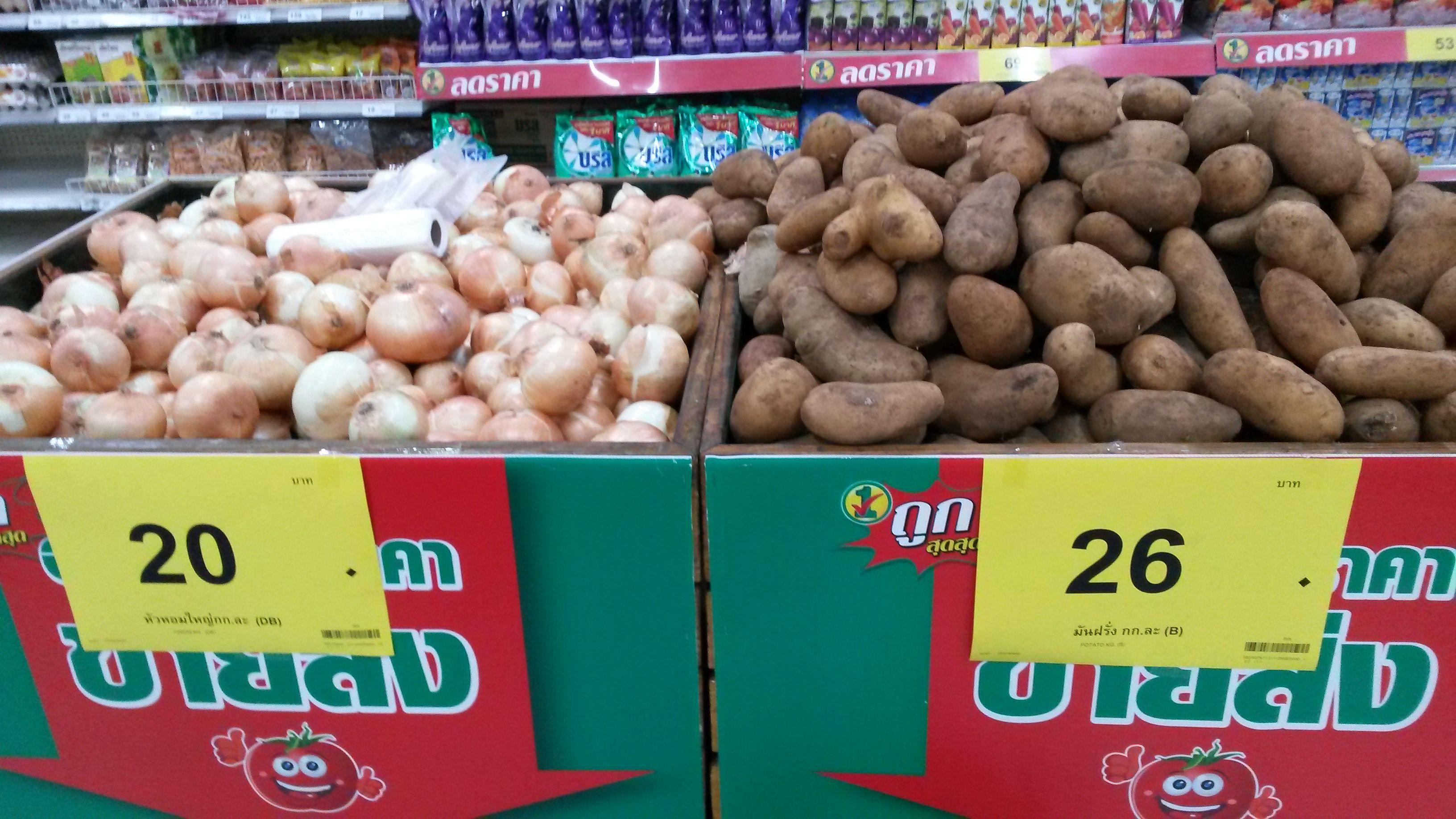 Lebensmittelpreise in Thailand