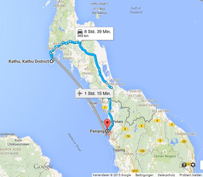 Visarun von Phuket nach Penang
